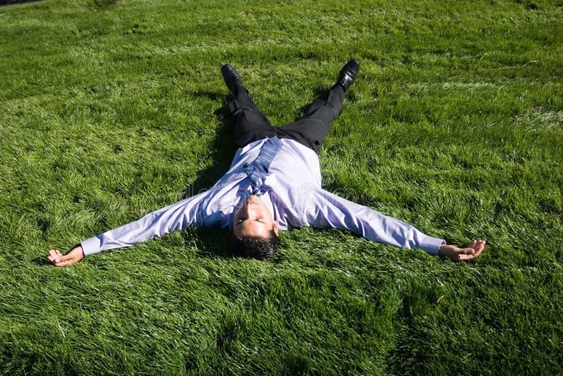 businesman χλόη πράσινη στοκ φωτογραφία με δικαίωμα ελεύθερης χρήσης