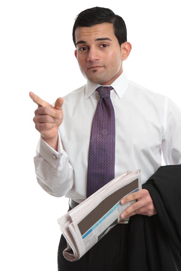 Businesman que señala la dirección del dedo fotos de archivo libres de regalías