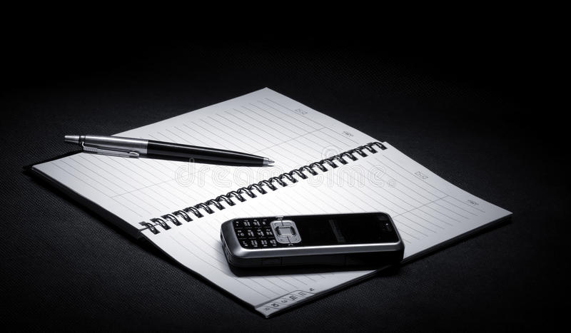Business. Still life made in black&white color stock photography