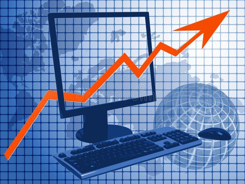 Download IT business stock illustration. Illustration of climbing - 1464834