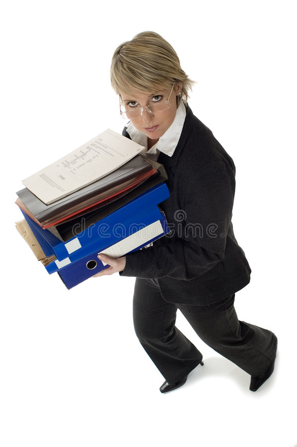 Download Business stock image. Image of folders, bookkeeper, adult - 1719279