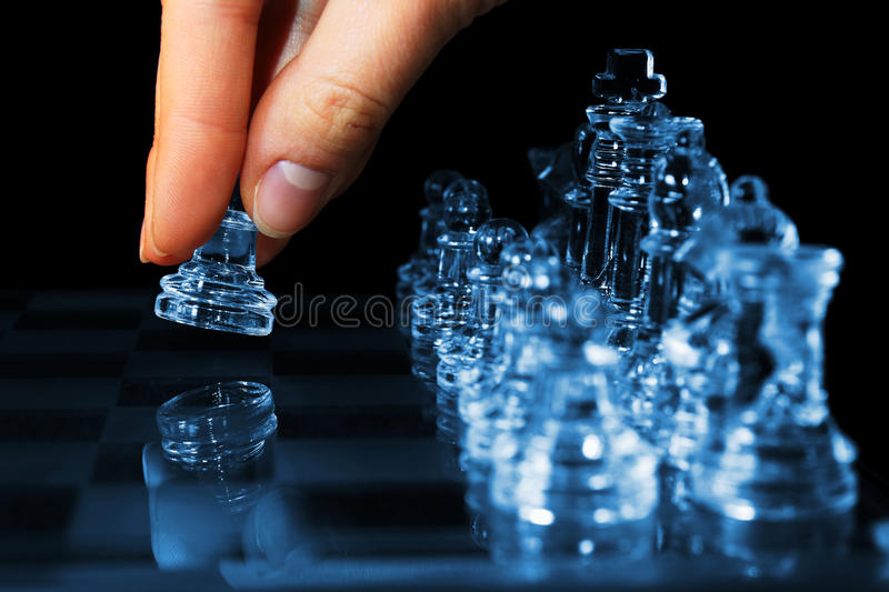 Download Strategy Chess Game Woman Fingers Moving Pawn Stock Photo - Image of action, confrontation: 17777856