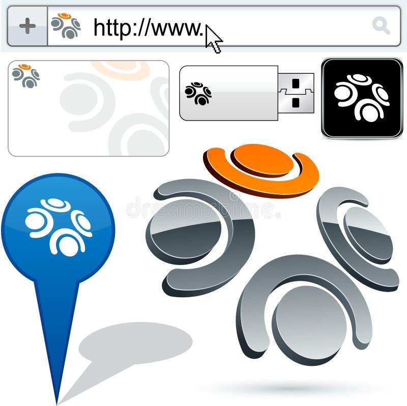 Download Business 3D Team Logo Design. Stock Photo - Image: 20566210