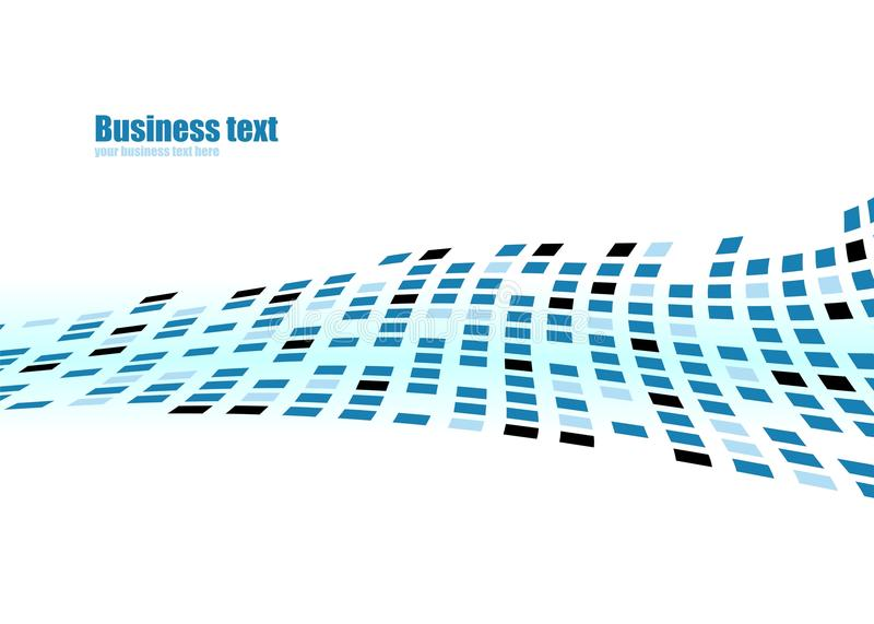Business abstract background. Abstract fantasy composition squares texture blue fish in vector stock illustration