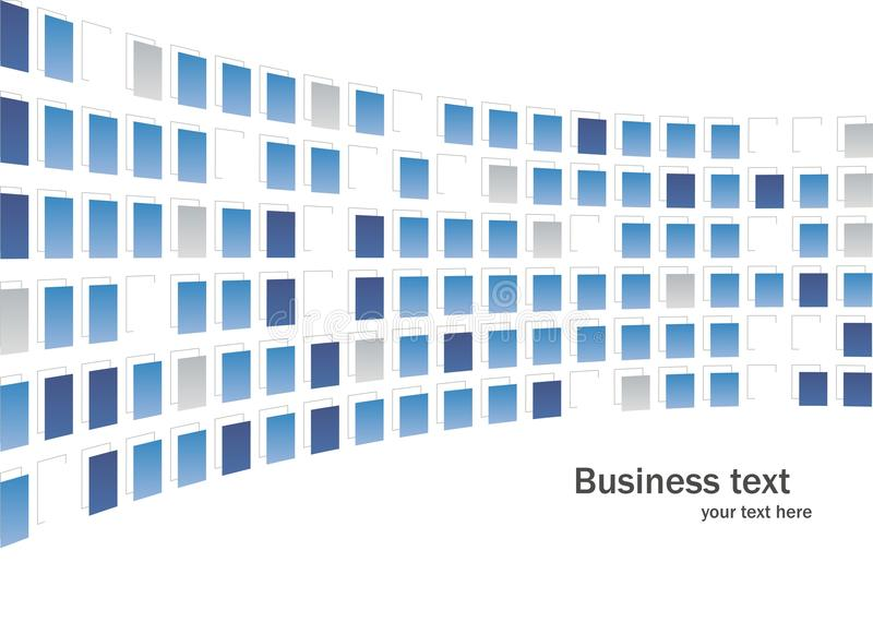 Business abstract background. Abstract fantasy composition squares texture blue fish in vector royalty free illustration