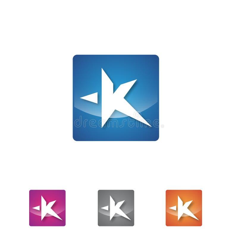 Business Abstract Letter K Shaped Stars Symbol For Mobile App Stock