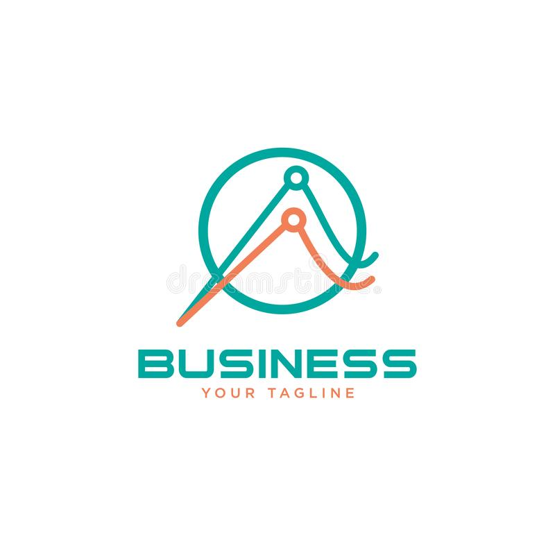 Business abstract logo symbol. Business abstract logo symbol. Statistics with magnifier search icon logo concept. Business abstract logo symbol. Statistics with royalty free illustration