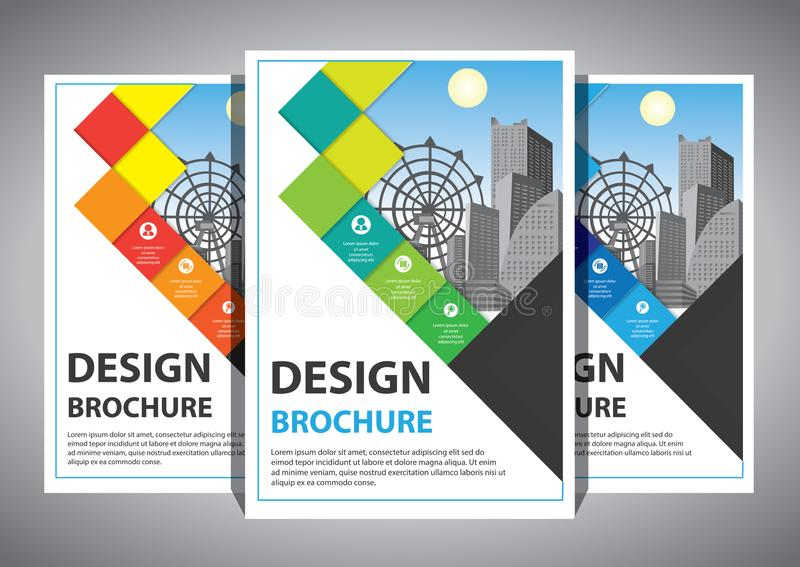 Business abstract vector template. Brochure design, cover modern layout, annual report, poster, flyer in A4 with colorful vector illustration