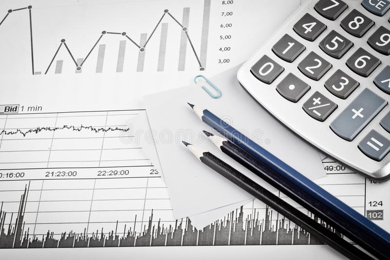 Download Business accessories stock photo. Image of calculator - 19162410