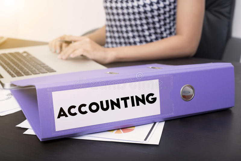 Business accountant with document file accounting royalty free stock photos