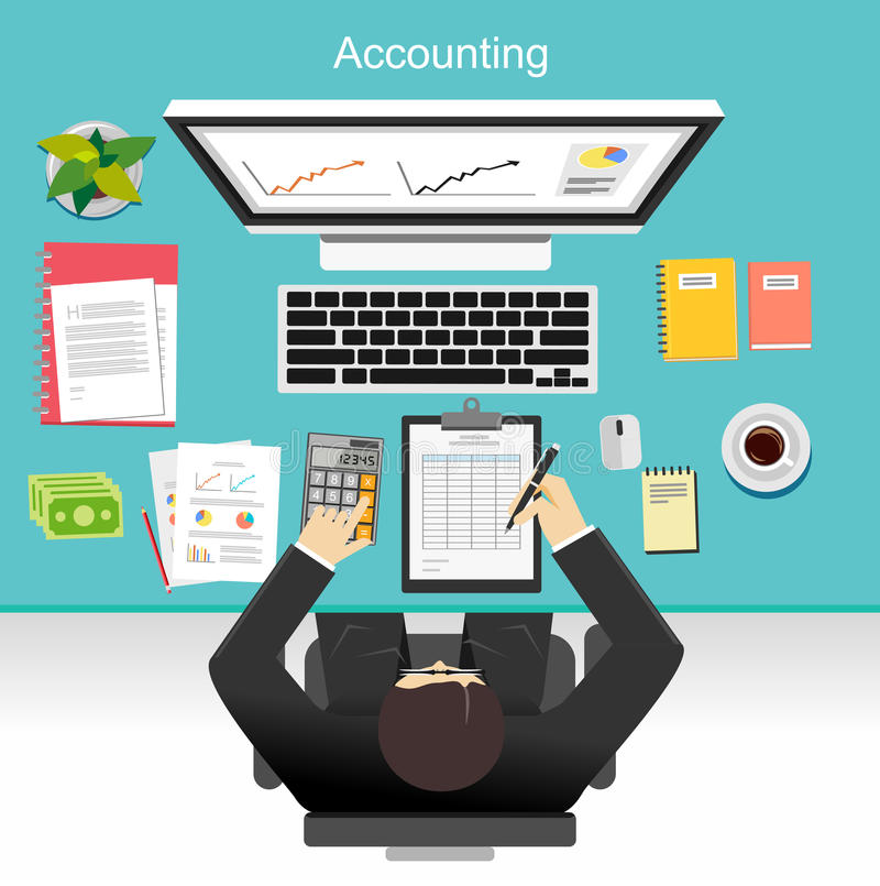 Business accounting concept illustration. royalty free illustration