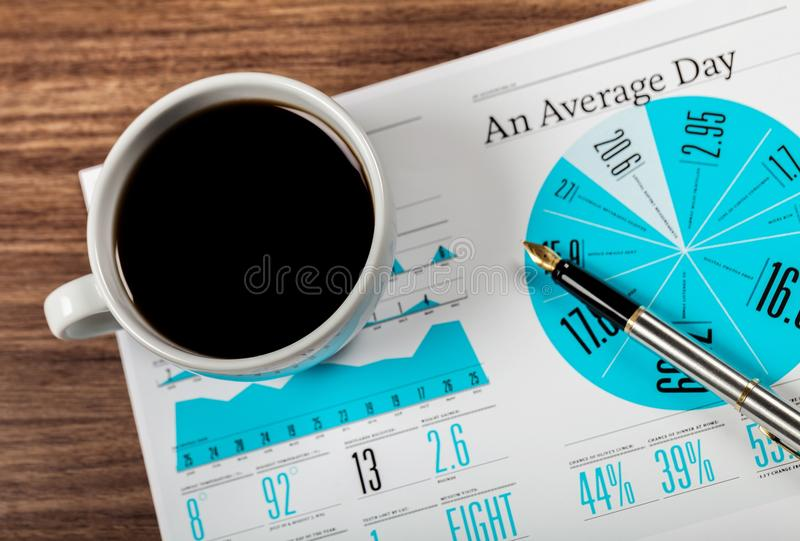 Business. Accounting cup market statistics sales statistical royalty free stock photos