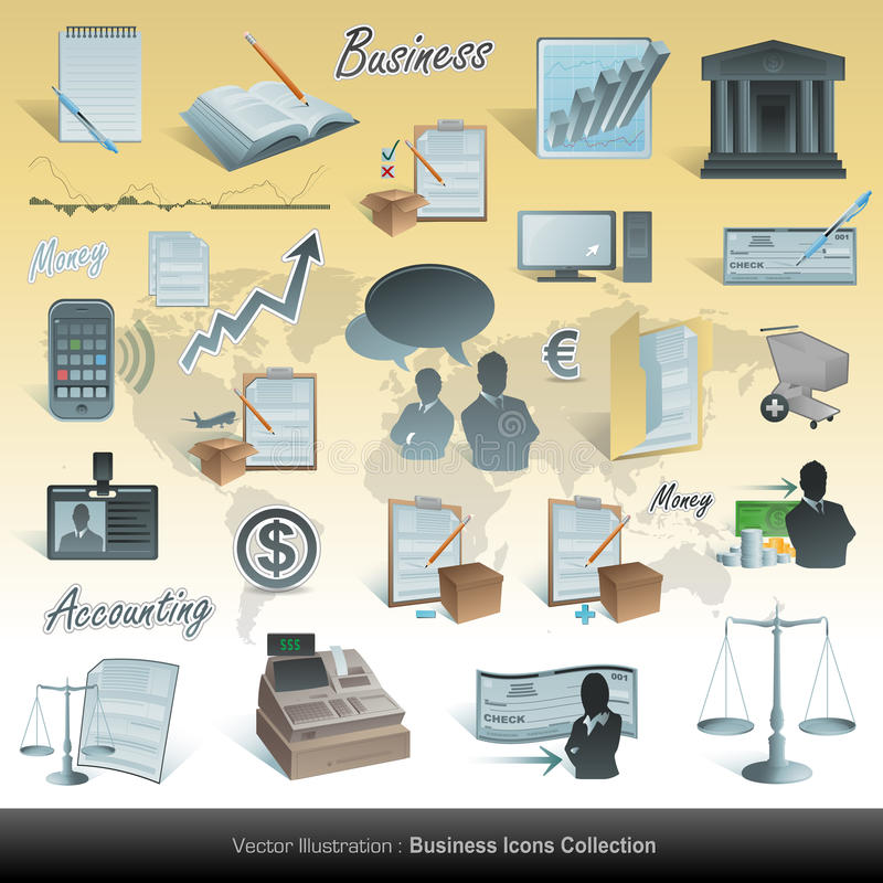 Business and accounting icons vector illustration