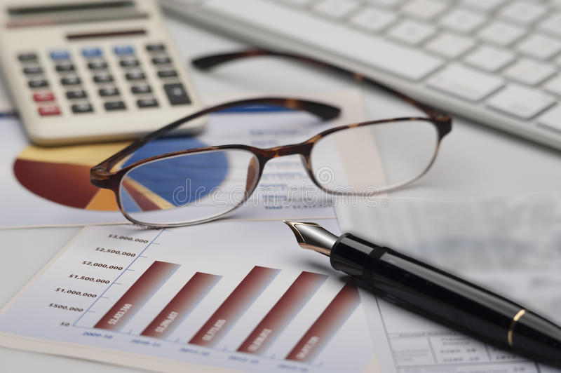 Business accounting. And taxation services royalty free stock image
