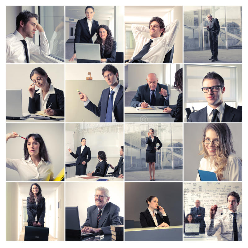 Business in action stock photography