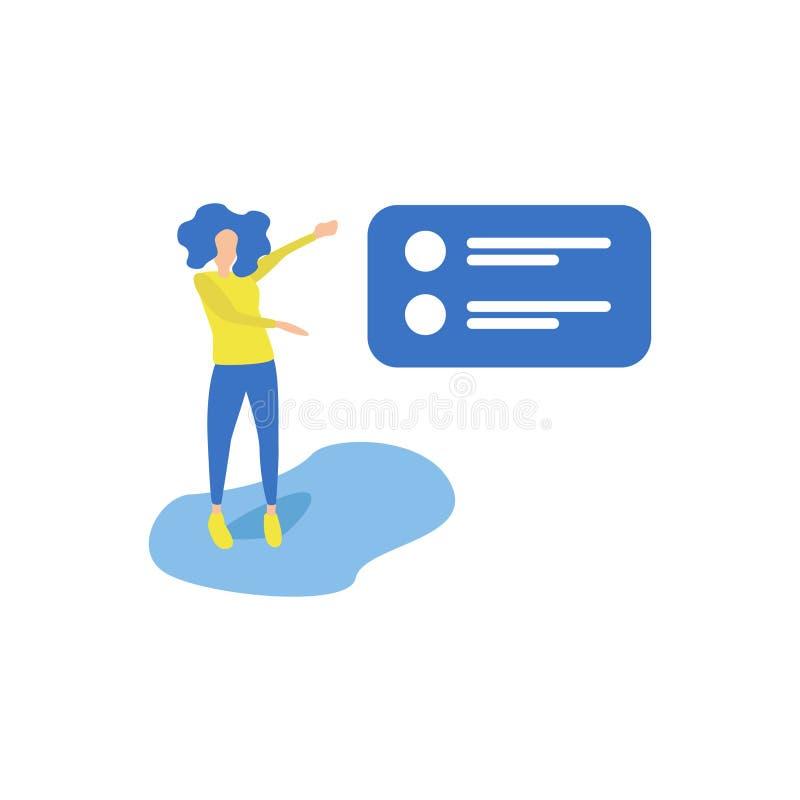 Business Activities Presenting vector illustration