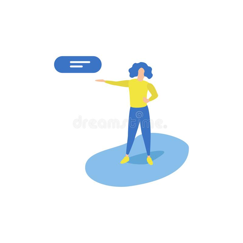 Business Activities Promoting stock illustration