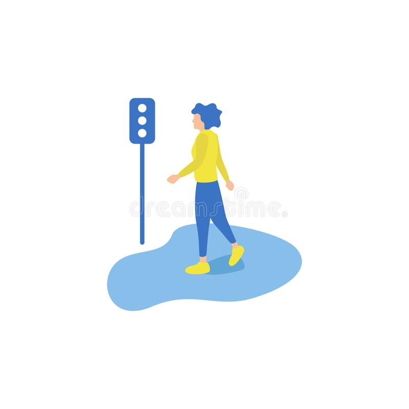 Business Activities Walking vector illustration