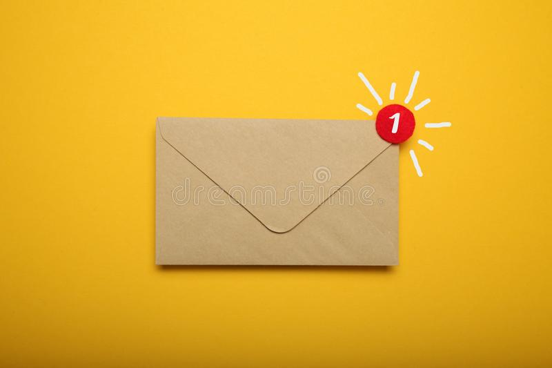Business address communication concept, document correspondence. App.  royalty free stock photos