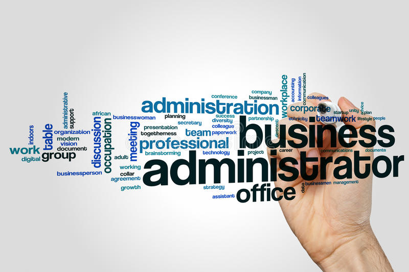 Business administrator word cloud stock photography