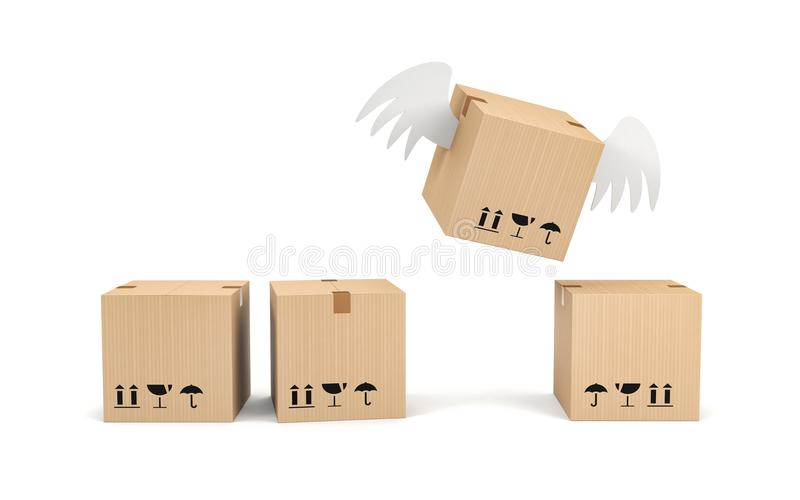 Business advantage concept. Different from the others stock illustration
