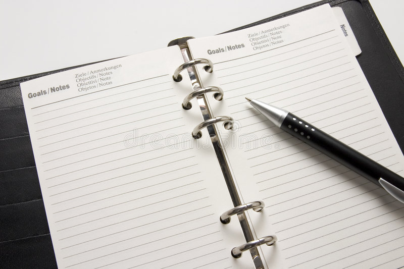 Business Agenda Goals Stock Photo Image Of Date Detail