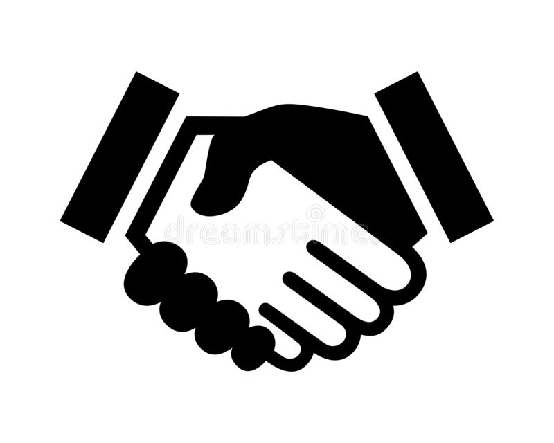 Business agreement handshake or friendly handshake royalty free illustration