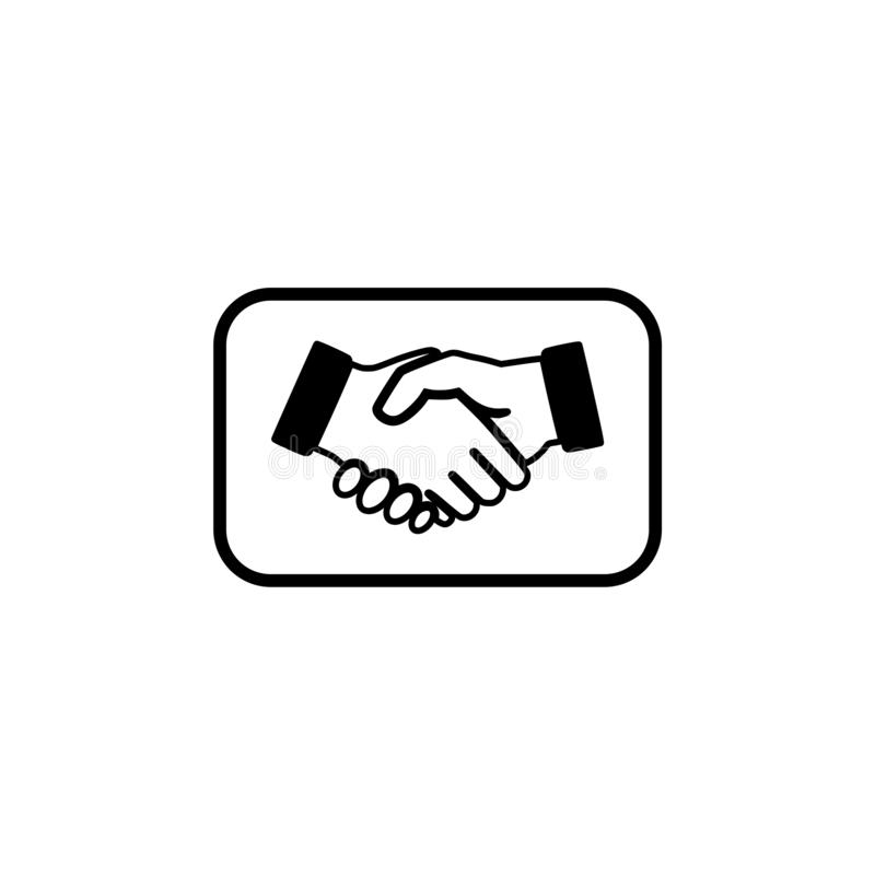 Business agreement handshake icon or sign vector illustration