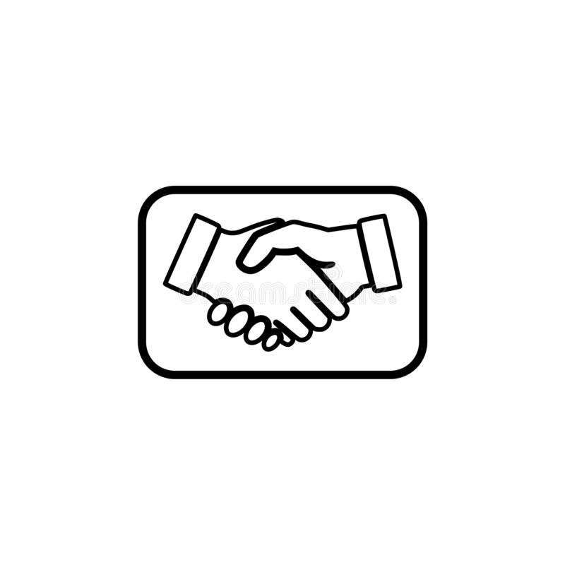 Business agreement handshake icon or sign royalty free illustration