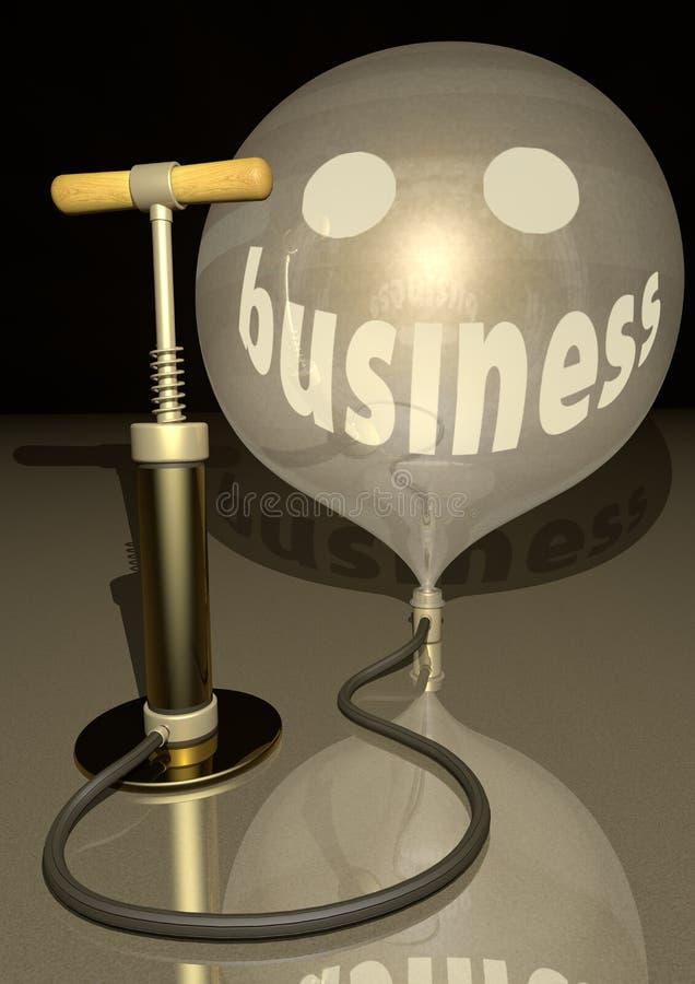 Download Business Air Pump Blow Gold Baloon Economic Smile Stock Illustration - Image: 20915921