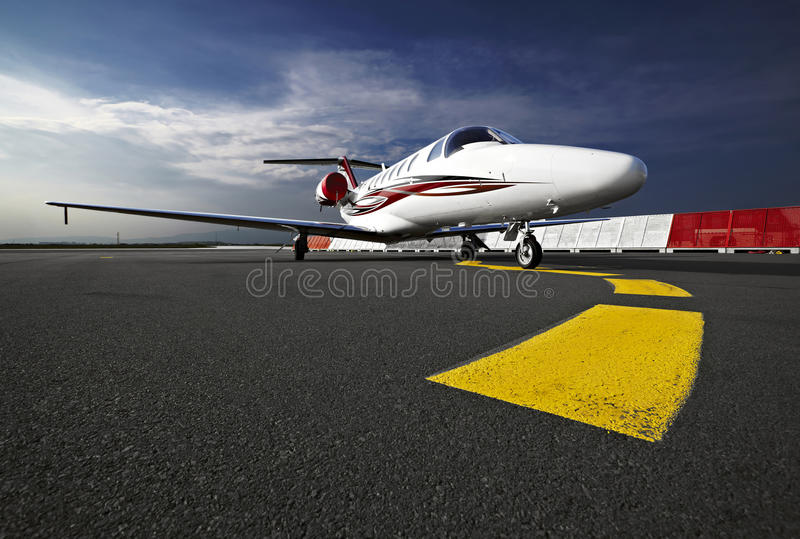 Business airplane stock images
