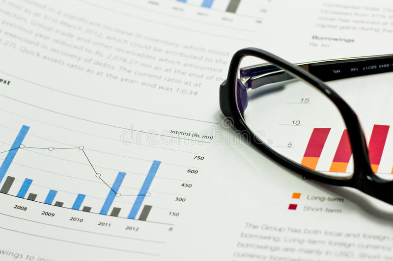 Business Analysis. Picture of a business concept portraying accounting finance auditing reporting and financial consultation. The picture contains graphs and stock image