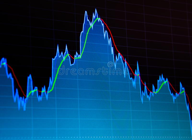 Business analysis diagram. Finance background data graph royalty free stock image
