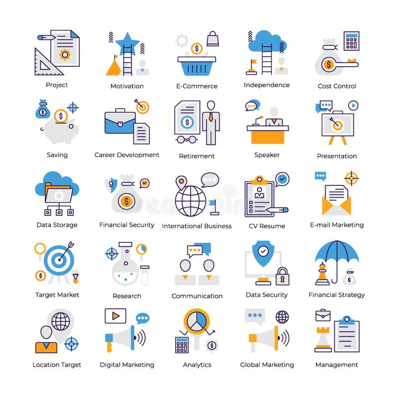 Business Analysis Flat Vectors Pack stock illustration