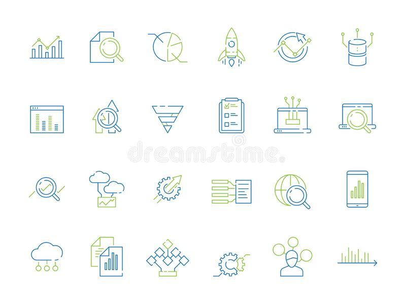 Business analysis icon. Manager strategy diagram graphics of risque financial research strategy data analyzer. Illustration of business strategy diagram vector illustration