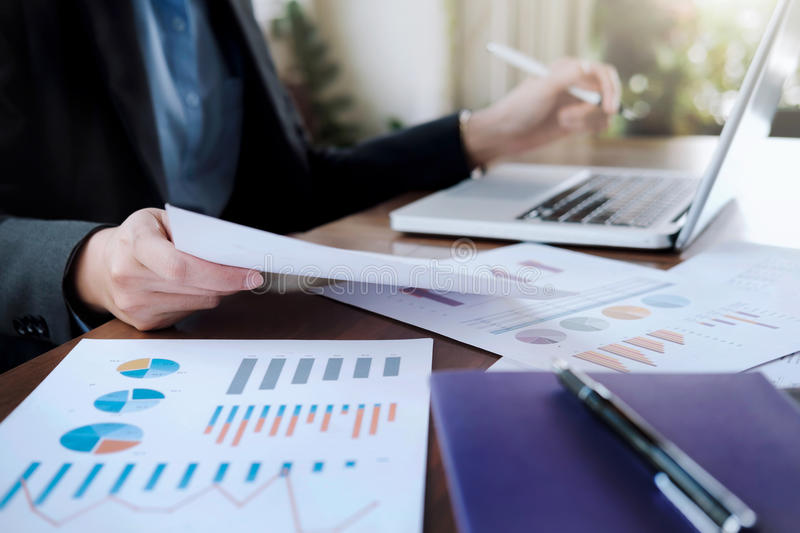 Business analysis planing and solution objective strategy conce stock images