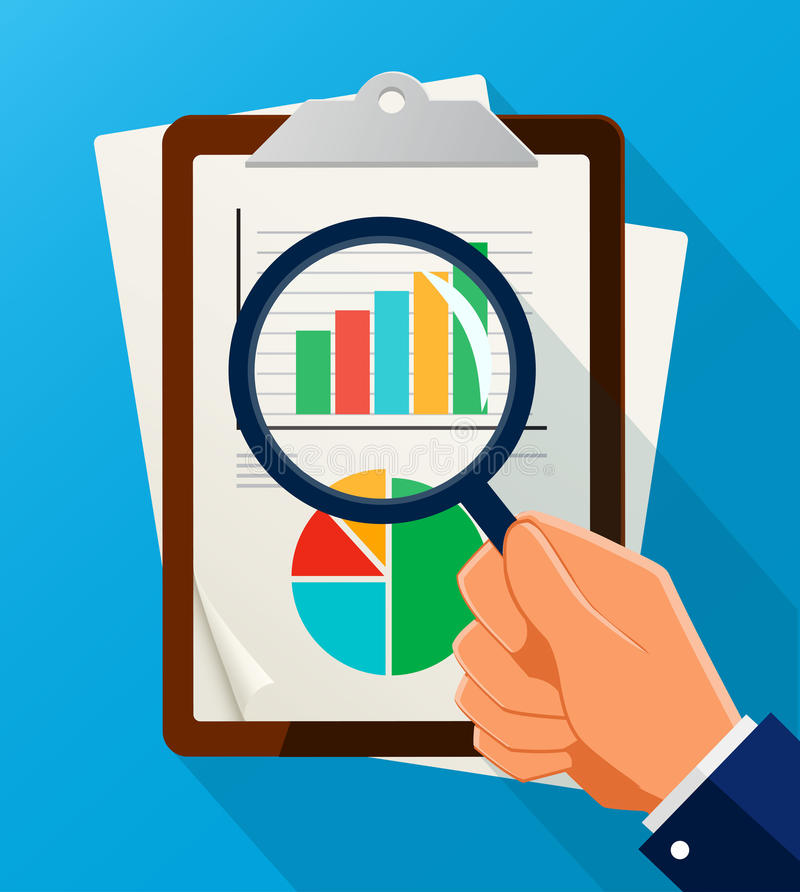 Business Analysis Symbol With Magnifying Glass Icon And ...