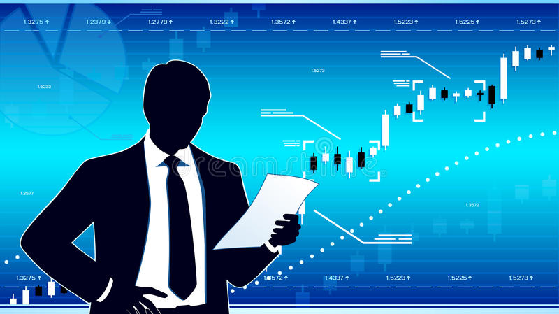 Business analyst royalty free illustration