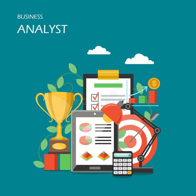 Business analyst vector flat style design illustration stock illustration