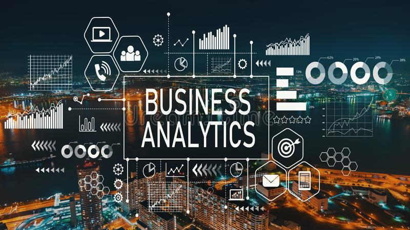 Business Analytics with Osaka city in Japan stock photography