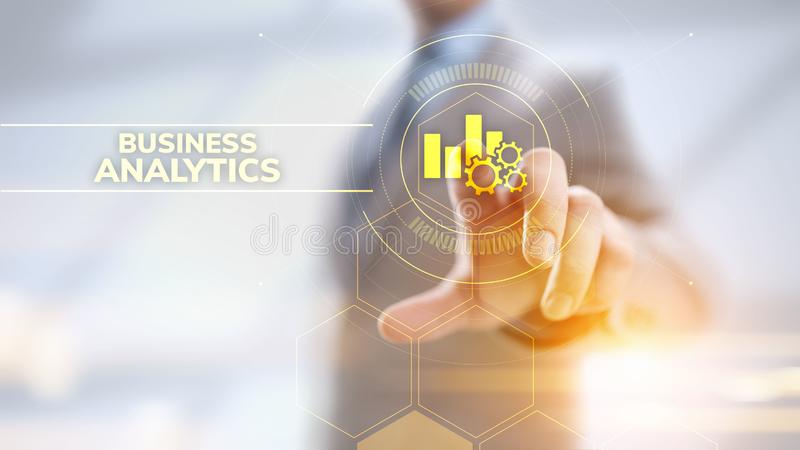 Business analytics intelligence analysis BI big data technology concept. royalty free stock images