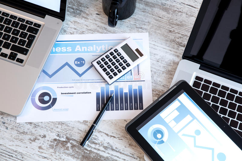 Business Analytics in the office royalty free stock images