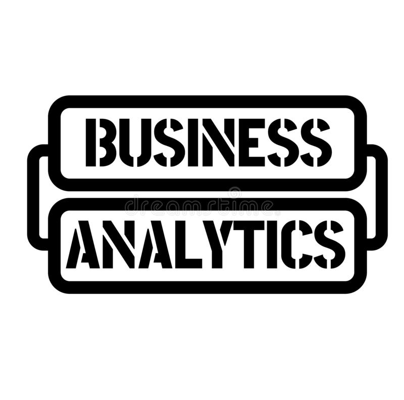 Business analytics stamp. On white background. Sticker or label royalty free illustration