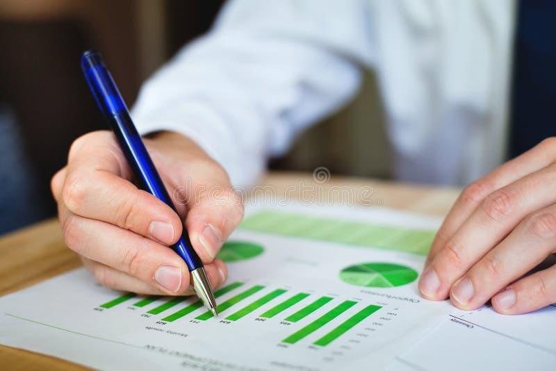 Business analyzis. Business analyze sustainable development opportunities royalty free stock photos