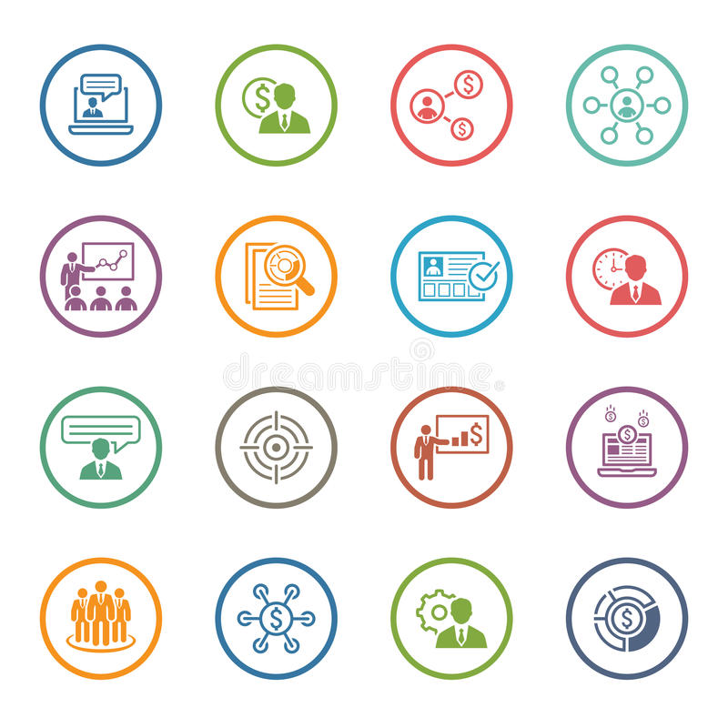 Free Business And Finances Icons Set. Flat Design. Stock Photography - 59666492