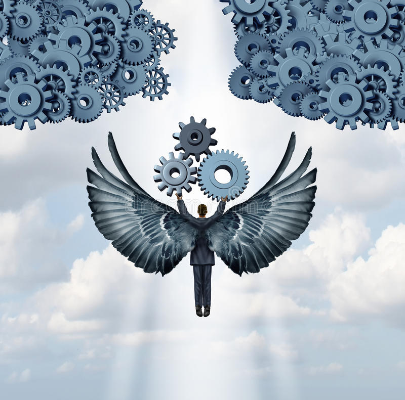 Business Angel Investor vector illustration