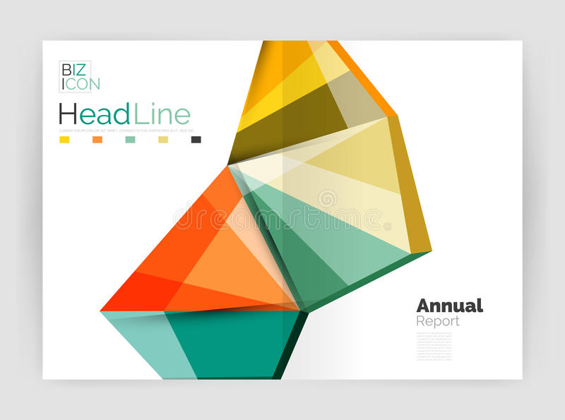 Business annual report abstract backgrounds. Geometric business annual report abstract backgrounds stock illustration
