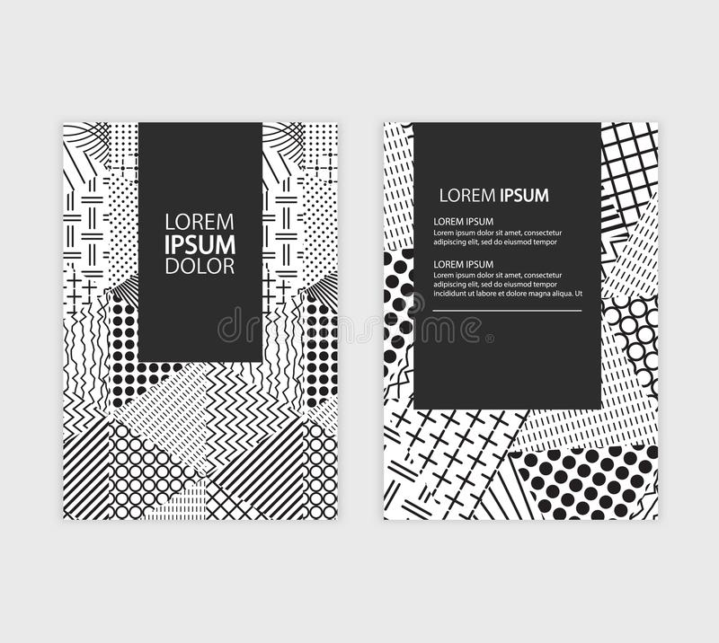 Business annual report brochure flyer design. Leaflet cover presentation. Catalog with Abstract geometric background royalty free illustration