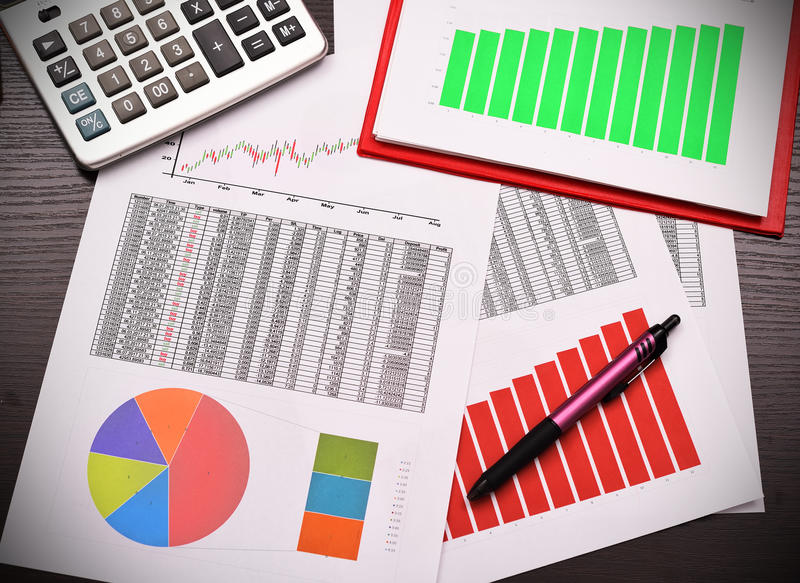 Business annual report stock photos