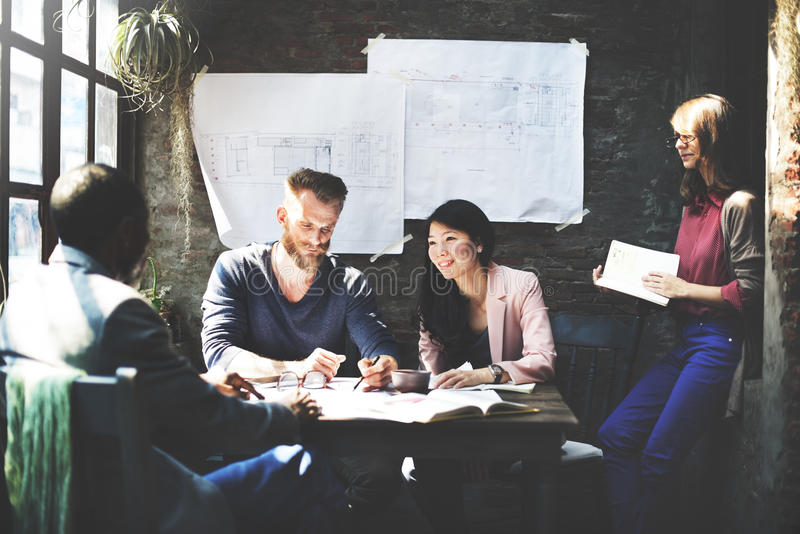 Business Architecture Interior Designer Meeting Concept stock image
